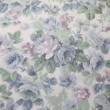 Vintage blue rose fabric — Stock Photo