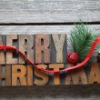 Old wood type Merry Christmas — Stock Photo