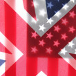 Great Britain and American flags — Stock Photo