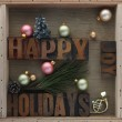 Happy holidays with decorations — Stock Photo #7477162