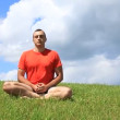 Stock Video: Transcendental meditation