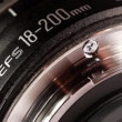 Stock Video: Telephoto lens