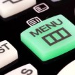 Remote control. Menu button — Stock Video #12771032