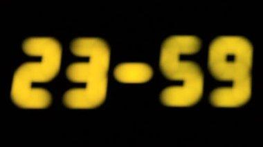 Electronic clock — Stock Video