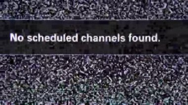 No scheduled channels found — Stock Video