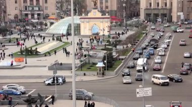 Square of independence in Kiev, Ukraine — Wideo stockowe