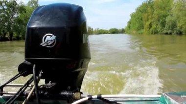Boat engine — Stock Video