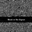 Vídeo Stock: TV noise. Weak or no signal