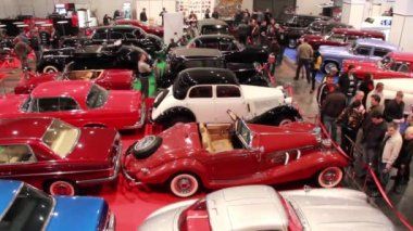 Motorshow Retro & Exotica — Stock Video