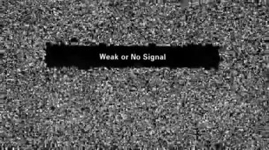 No signal — Vídeo de stock