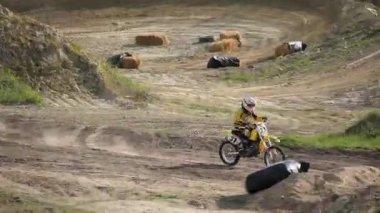 レース オートバイ — ストックビデオ
