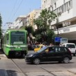Green tramway - Foto de Stock