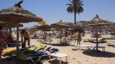 Beach in Sousse — Stock Video