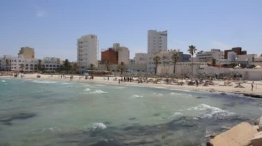 Playa de sousse, túnez — Vídeo de stock