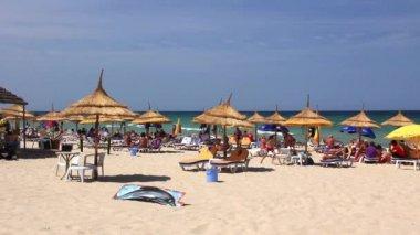 Spiaggia in tunisia — Video Stock