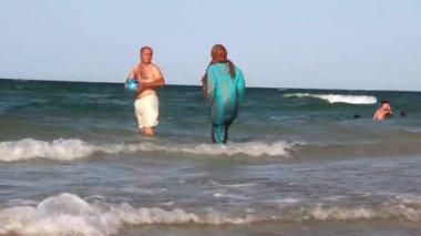 Beach in Tunisia — Stock Video