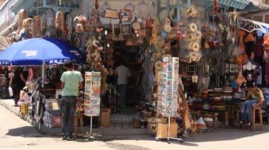 Medina, tunísia, sousse e-marketplace — Vídeo Stock
