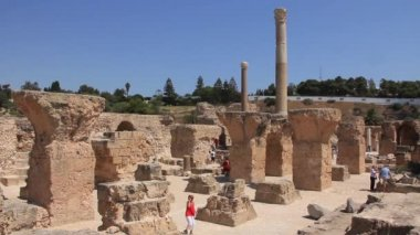 Ruins of ancient Carthage in Tunisia — Stock video