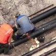 Stock Video: Insulated pipe line