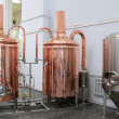 Foto Stock: Copper tuns for brewing at brewery