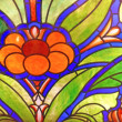 Stock Photo: Flower. Stained-glass window