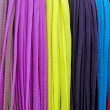 Many-coloured shoestrings — Stock Photo