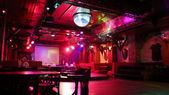 Interior of a night club — Stock Photo