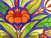Flower. Stained-glass window — Stock Photo
