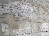 Karnak templo antiguo de egipto. jeroglíficos egipcios. dibujo — Foto de Stock