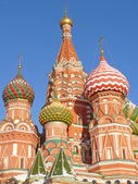 St. Basil's cathedral in Moscow, Russia — Foto Stock