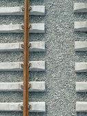 Rail and sleepers — Stock Photo