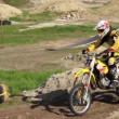 Stock Video: Racing motorcyclist