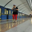 Underground station in Kiev, Ukraine — Stock Video #13390000