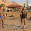 Bathe in Dead Sea in the morning, Israel — Stock Video