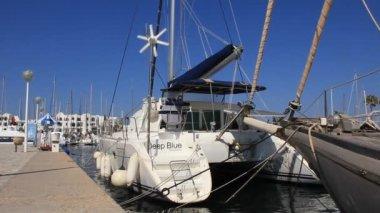 Port el kantaoui, sousse, tunisien — Stockvideo