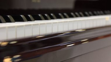 Play the piano — Stock Video