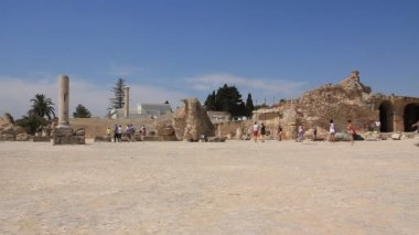 Ruins of ancient Carthage, Tunisia — Stock Video