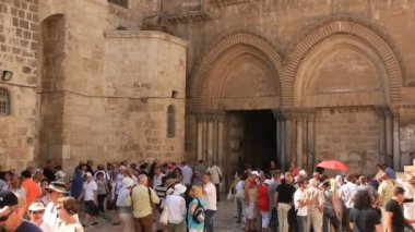 Kostel svatého hrobu v jeruzalémě izrael — Stock video