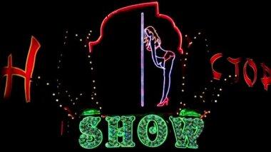 Strip show — Stock Video