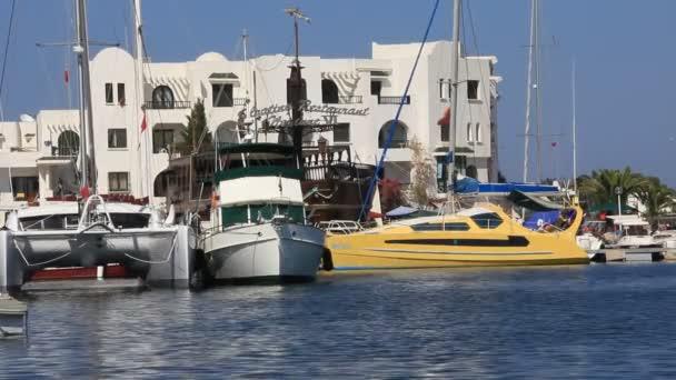 Port el kantaoui, sousse, Túnez — Vídeo de stock
