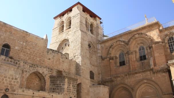Iglesia del Santo Sepulcro en Jerusalén, israel — Vídeo de stock