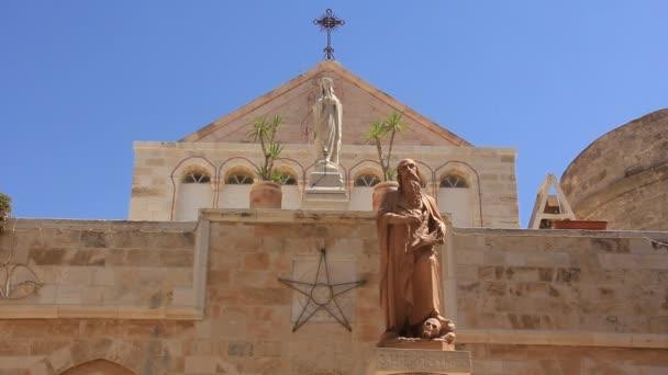 Iglesia de la Natividad en Belén israel — Vídeo de stock