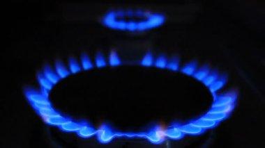 Blue gas — Stock Video