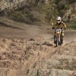 Racing motorcyclist — Stock Video