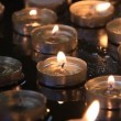 Candles in church of the Nativity in Bethlehem Israel — ストックビデオ