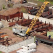 Stock Video: Crane loading