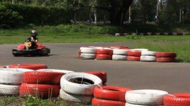 Karting — Stock Video