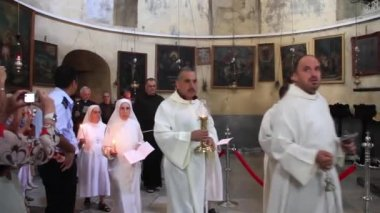 Holy Land. Bethlehem. Israel — Stock Video