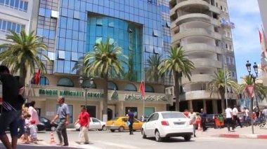 In de straat van sousse, tunesië — Stockvideo