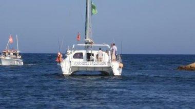 Pleasure boats in Port El Kantaoui Tunisia Sousse — Stock Video